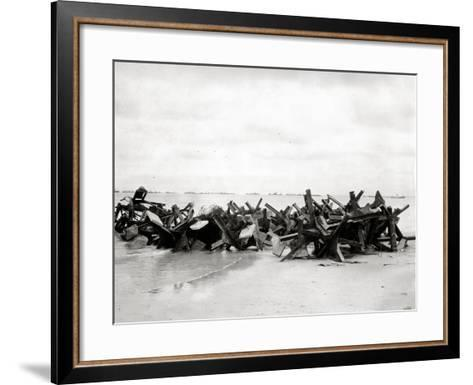 After Removal of Beach Obstacles--Framed Art Print