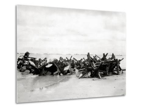 After Removal of Beach Obstacles--Metal Print