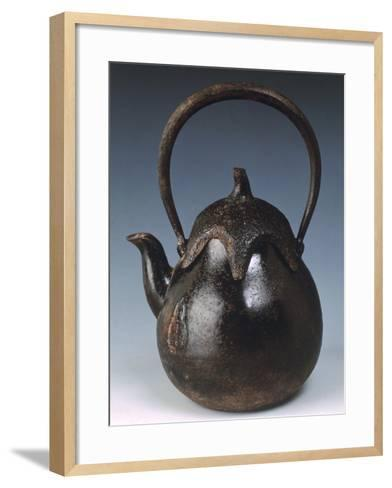 Kettle for Tea in Shape of Eggplant--Framed Art Print
