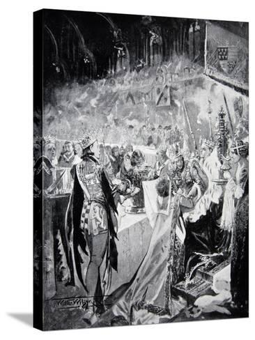 The Coronation Banquet of Henry IV--Stretched Canvas Print
