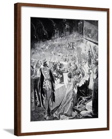 The Coronation Banquet of Henry IV--Framed Art Print