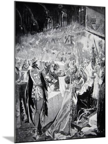 The Coronation Banquet of Henry IV--Mounted Giclee Print
