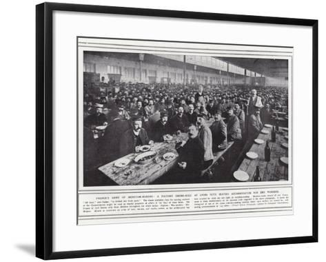 France's Army of Munition-Makers--Framed Art Print