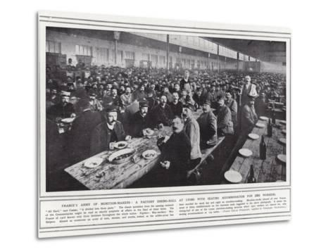 France's Army of Munition-Makers--Metal Print