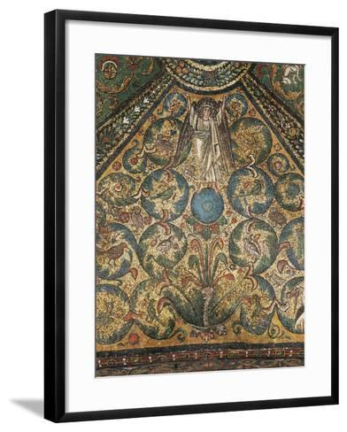 Angel Figure and Nature Motifs--Framed Art Print