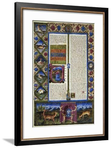 Incipit from Book of Jeremiah--Framed Art Print
