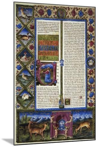 Incipit from Book of Jeremiah--Mounted Giclee Print