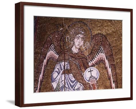 Half-Figure of Archangel Michael--Framed Art Print