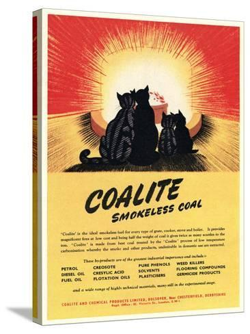 Advert for 'Coalite' Smokeless Coal--Stretched Canvas Print