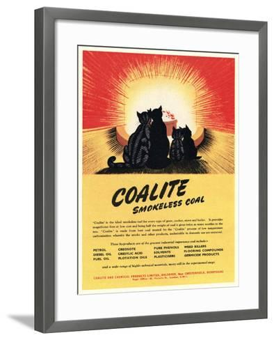 Advert for 'Coalite' Smokeless Coal--Framed Art Print