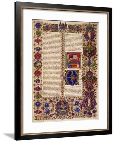Incipit from First Book of Kings--Framed Art Print
