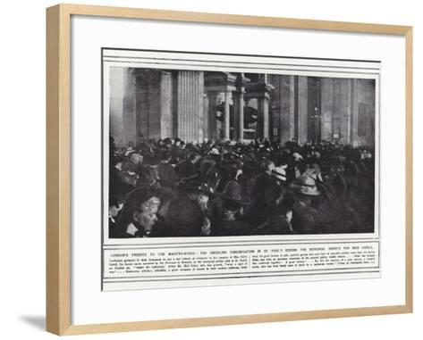 London's Tribute to the Martyr-Nurse--Framed Art Print
