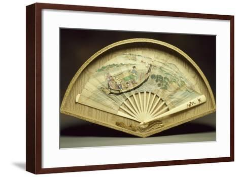 Fan with Ivory Guard and Slats--Framed Art Print