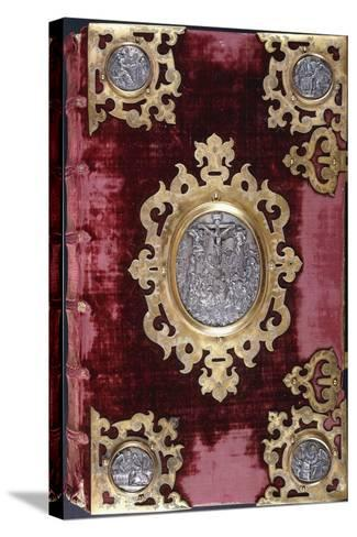 Upper Cover of a German Bible--Stretched Canvas Print