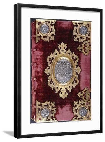 Upper Cover of a German Bible--Framed Art Print