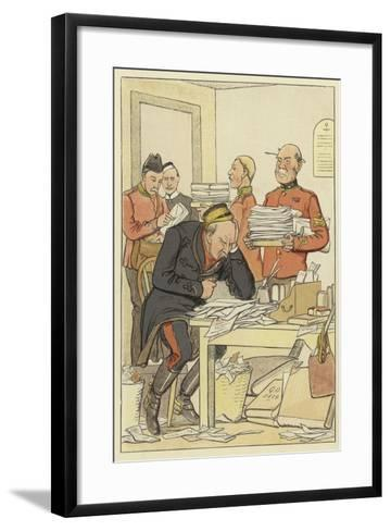 """But This Exceeding Posting--Framed Art Print"