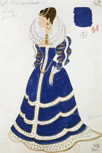Polish Lady--Stretched Canvas Print