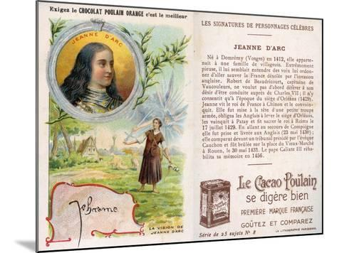 Joan of Arc--Mounted Giclee Print