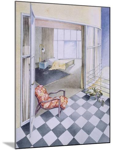 Bedroom--Mounted Giclee Print