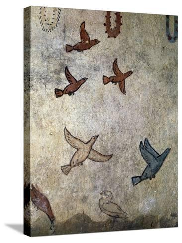 Birds in Flight--Stretched Canvas Print