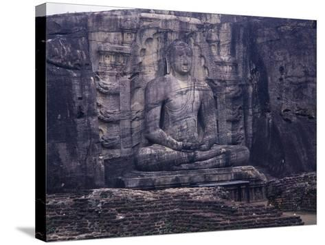 Seated Buddha--Stretched Canvas Print
