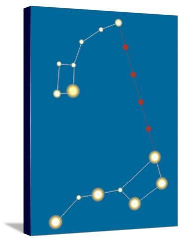 Star Constellations--Stretched Canvas Print