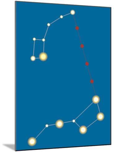 Star Constellations--Mounted Giclee Print