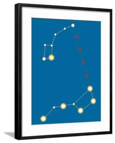 Star Constellations--Framed Art Print