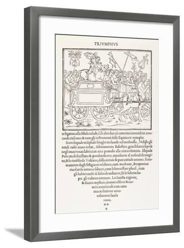 The Triumph of Europe--Framed Art Print