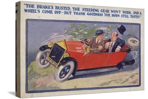 """""""The Brake's Busted--Stretched Canvas Print"""