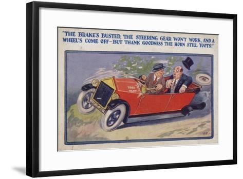 """""""The Brake's Busted--Framed Art Print"""