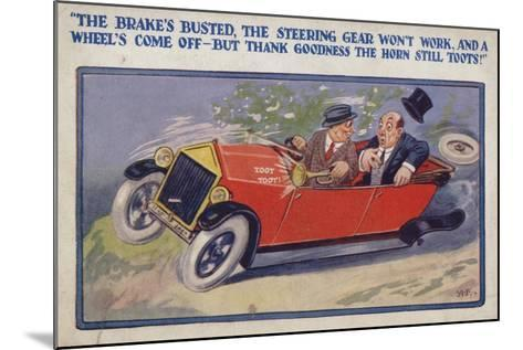 """""""The Brake's Busted--Mounted Giclee Print"""