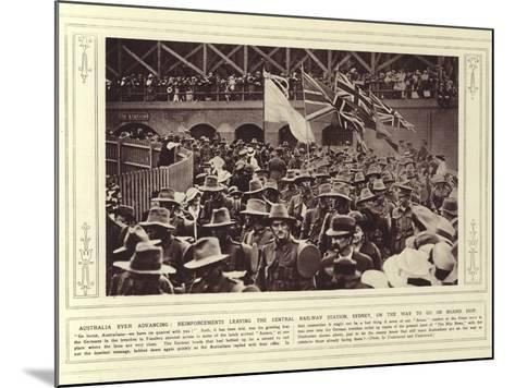 Australia Ever Advancing--Mounted Photographic Print