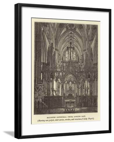 Salisbury Cathedral--Framed Art Print