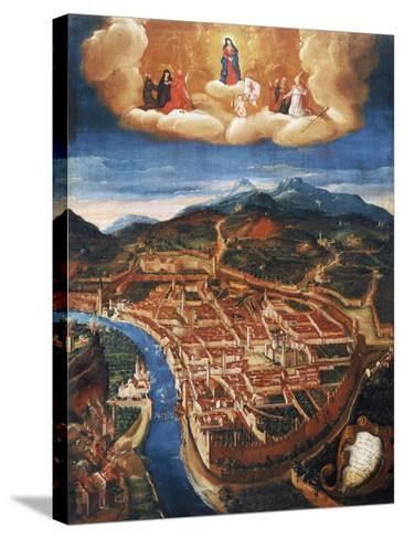 Bombing of Trent in 1703--Stretched Canvas Print