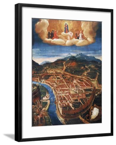 Bombing of Trent in 1703--Framed Art Print
