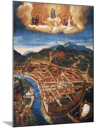 Bombing of Trent in 1703--Mounted Giclee Print