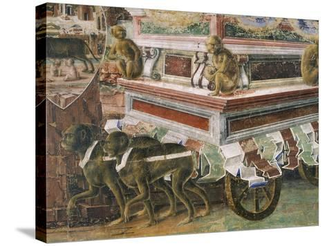 Chariot Drawn by Monkeys--Stretched Canvas Print