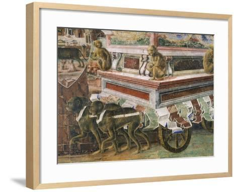 Chariot Drawn by Monkeys--Framed Art Print