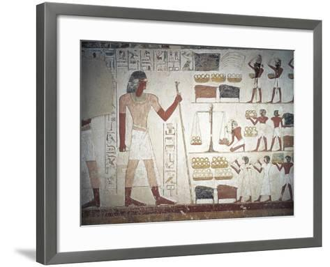 The Weighing of Copper--Framed Art Print
