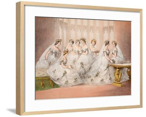 The Bridesmaids--Framed Art Print
