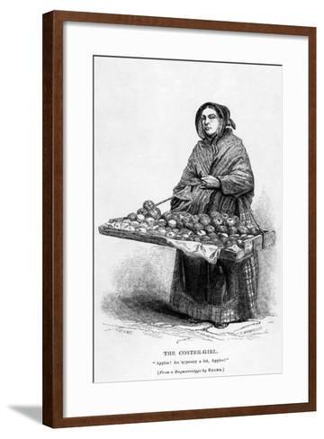 The Coster-Girl--Framed Art Print