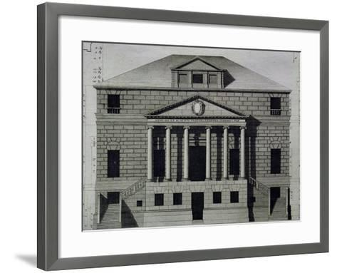 Drawing of Villa Foscari--Framed Art Print