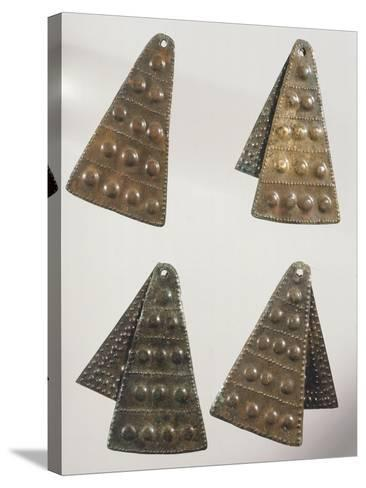 Embossed Bronze Pendants--Stretched Canvas Print