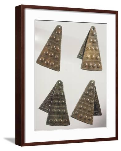 Embossed Bronze Pendants--Framed Art Print