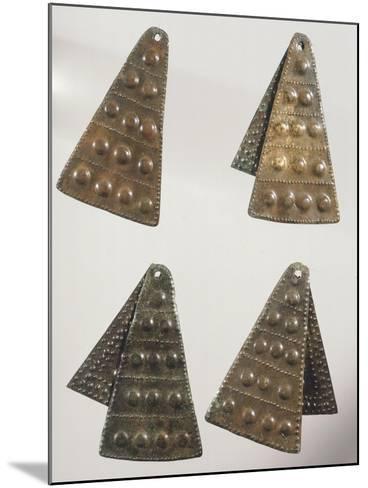 Embossed Bronze Pendants--Mounted Giclee Print