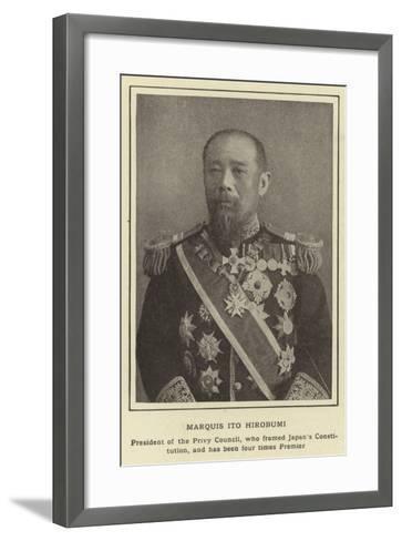 Marquis Ito Hirobumi--Framed Art Print