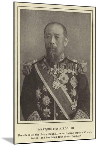 Marquis Ito Hirobumi--Mounted Photographic Print