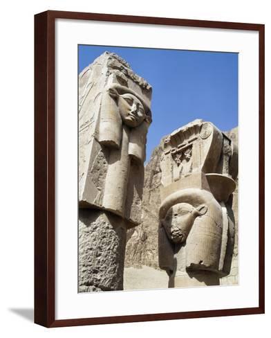 Hathoric Pillars--Framed Art Print