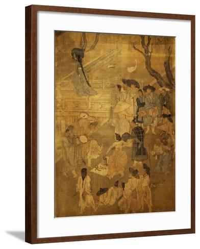 Dancer in Street--Framed Art Print